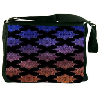 Snoogg Motif Black Shaded 2418 Digitally Printed Laptop Messenger  Bag