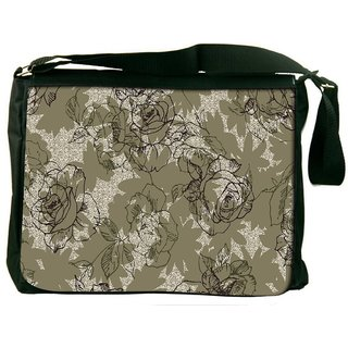 Snoogg Abstract Rose Art Digitally Printed Laptop Messenger  Bag