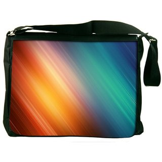 Snoogg Aurora Abstract Digitally Printed Laptop Messenger  Bag