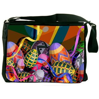 Snoogg Designer Eggs 2474 Digitally Printed Laptop Messenger  Bag
