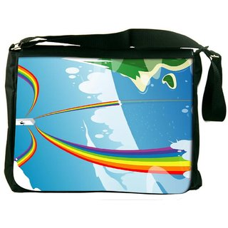 Snoogg Beach Energy Goodness 2524 Digitally Printed Laptop Messenger  Bag
