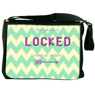 Snoogg Phone Is Locked Designer Laptop Messenger Bag