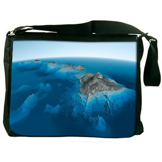 Snoogg Blue Water Sea Digitally Printed Laptop Messenger  Bag