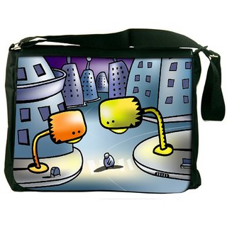 Snoogg Street Lights Digitally Printed Laptop Messenger  Bag
