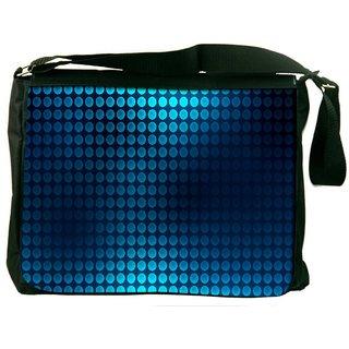 Snoogg Blue Spots Digitally Printed Laptop Messenger  Bag
