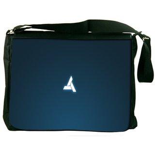 Snoogg Abstergo Logo Game Digitally Printed Laptop Messenger  Bag