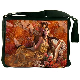 Snoogg Fantasy Girls Digitally Printed Laptop Messenger  Bag