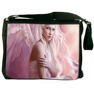 Snoogg Fantasy Girl Angel Digitally Printed Laptop Messenger  Bag
