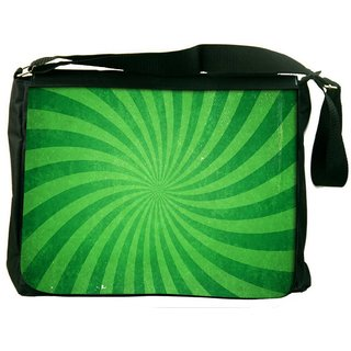Snoogg Abstract Green Design Digitally Printed Laptop Messenger  Bag