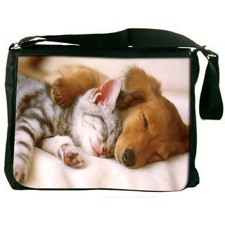 Snoogg Babies Sleeping Digitally Printed Laptop Messenger  Bag