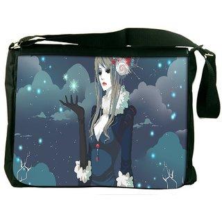 Snoogg Snow Queen Digitally Printed Laptop Messenger  Bag