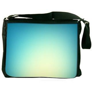Snoogg Lite Blue Background Digitally Printed Laptop Messenger  Bag