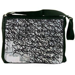 Snoogg Graffiti Incase Digitally Printed Laptop Messenger  Bag