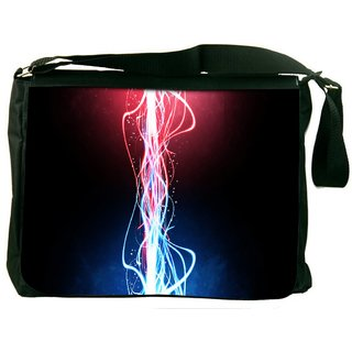 Snoogg Neon Multicolor Rays Digitally Printed Laptop Messenger  Bag
