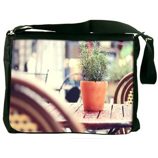 Snoogg Small Plant Digitally Printed Laptop Messenger  Bag