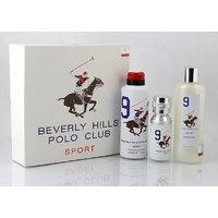 Beverly Hills Polo Club Gift Set Pack Of 3 ( EDT + Body Wash + Deodrant) Wite Men 9