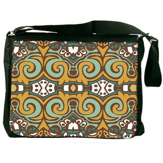 Snoogg Multicolor Pattern Digitally Printed Laptop Messenger  Bag