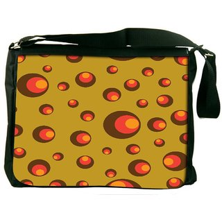 Snoogg Small Colorful Shades Digitally Printed Laptop Messenger  Bag