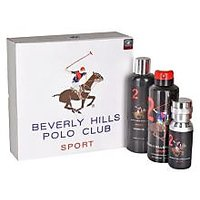 Beverly Hills Polo Club Gift Set Pack Of 3 ( EDT + Body Wash + Deodrant) Black Men 2