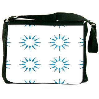 Snoogg Blue Sun Digitally Printed Laptop Messenger  Bag