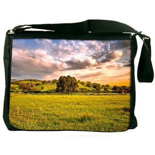 Snoogg Abstract Nature Tree Digitally Printed Laptop Messenger  Bag