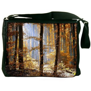 Snoogg Yellow Forest Digitally Printed Laptop Messenger  Bag