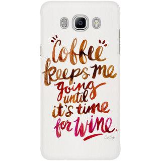 Dreambolic Coffee Wine Brown Magenta Mobile Back Cover