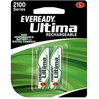 Original Eveready Ultima Rechargeable Pkd:DEC 2013 2100 Series-2 AA NiMH Battery