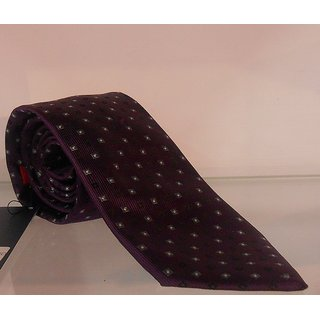 Peter England Purple Colored Men's Formal Tie