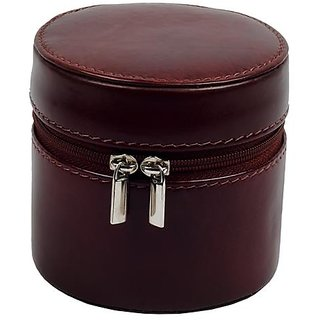 Zint Small Genuine Leather Travel Jewellery Box Trinket Case Rings Pendants Organizer