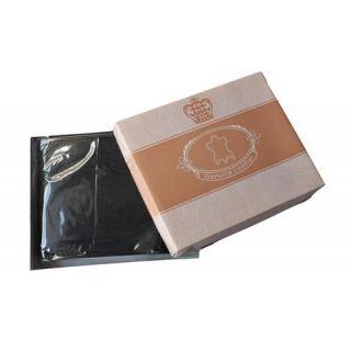 Mens Wallet Genuine Leather Bifold Credit Card Holder Black