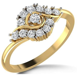14k Hallmark Yellow Gold Ring with Certified Diamonds color- I-J clarity - SI