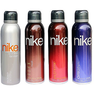Nike Deodorants Up or down Urban musk Extreme and Original for Men 200ml Each (Pack of 4)