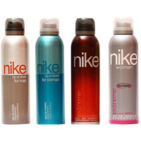 Nike Deodorants Up Or Down For Men  Women, Extreme For Men  Women 200ml Each (Pack Of 4)