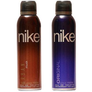 Nike Deodorants Urban Musk and Original for Men 200ml Each (Pack of 2)