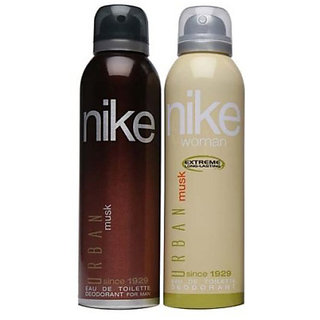 Nike Deodorants Urban Musk for Men Women 200ml Each (Pack of 2)