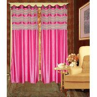 iLiv Combo Of 2 Door  2 Window Curtains - blackkolavri7ft5ft