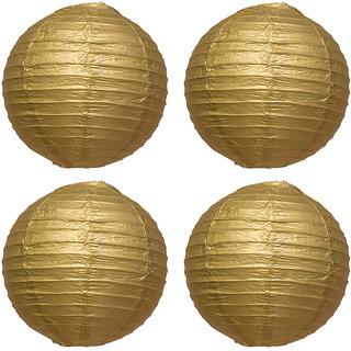 Skycandle Gold Paper Lantern Pack Of 4