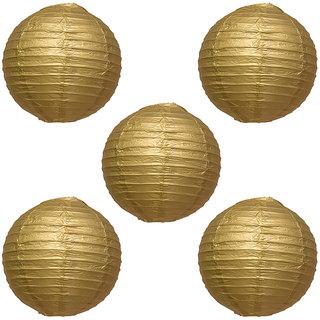 Skycandle Gold Paper Lantern Pack Of 5