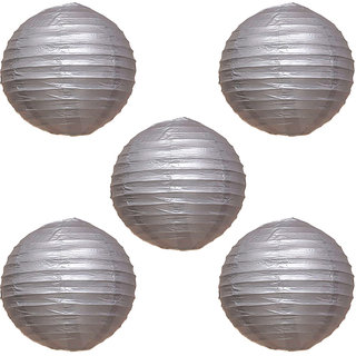 Skycandle Silver Paper Lantern Pack Of 5