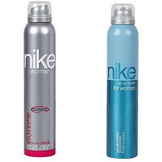Nike Deodorants Extreme and Up or down for Women 200ml Each (Pack of 2)