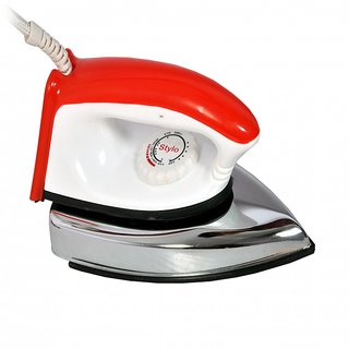 Home line Electric Light Weight Dry Iron Red