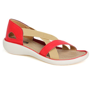 Vendoz Women Red Sandals VDFL20RD