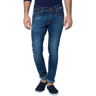 Locomotive Blue Slim Fit Mid Rise Mens Jeans