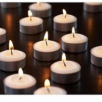 Set of 50 wax T-light candles Tealights