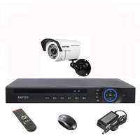 Rapter 960P (1.3 MP) Bullet Camera 1 Pcs + 4 Channel AHD DVR + 4 Channel Power Supply + BNC DC Connector