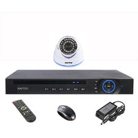 Rapter 960P (1.3 MP) Dome Camera 1 Pcs + 4 Channel AHD DVR + 4 Channel Power Supply + BNC DC Connector