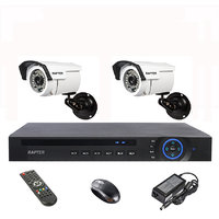 Rapter 960P (1.3 MP) Bullet Camera 2 Pcs + 4 Channel AHD DVR + 4 Channel Power Supply + BNC DC Connector