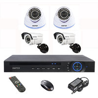 Rapter 960P (1.3 MP) Dome Camera 2 Pcs + Bullet Camera 2 Pcs + 4 Channel AHD DVR + 4 Channel Power Supply + BNC DC Conne