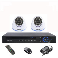 Rapter 960P (1.3 MP) Dome Camera 2 Pcs + 4 Channel AHD DVR + 4 Channel Power Supply + BNC DC Connector